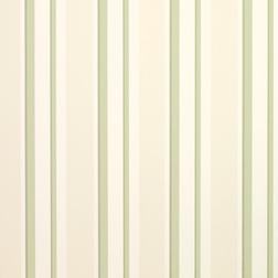 Обои в вертикальную полоску светло-зеленого цвета EATON STRIPE (Hedgerow)