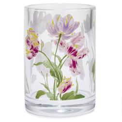 Стеклянный подсвечник в цветы тюльпана GOSFORD TEALIGHT 7*9,8 (Multi)