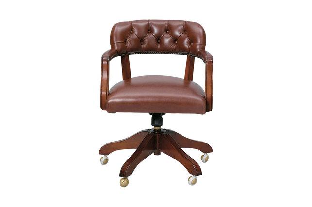 Кожаное кресло с подлокотниками FRANKLIN 76-84*59*66 (Leather Sorrel)