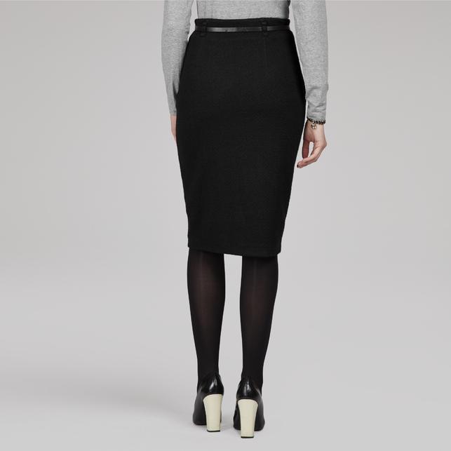 Фото юбка карандаш с поясом на