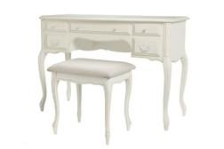 Туалетный столик цвета слоновой кости дополнен пуфиком PROVENCALE table (Ivory)