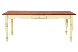 Обеденный стол теплого кремового цвета с эффектом состаривания BRAMLEY DINING TABLE 80*200*90 (Cream