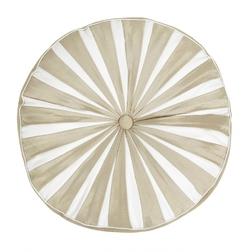 Декоративная подушка круглой формы бежевого цвета ASHLING Ø40 (Natural)