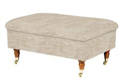 Пуфик квадратной формы в вельветовой ткани ELLIOT FOSTL 44*84*84 (BAND E/Villandry Sable)
