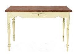 Консольный стол с эффектом состаривания BRAMLEY CONSOLE TABLE 85*100*35 (Cream)