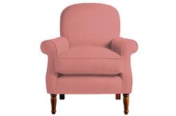 Удобное кресло в ткани розового цвета CAMBRIDGE 89*78*88 (Band D/Dalton Cyclamen)