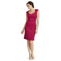 Панельное платье из хлопка цвета спелой малины MD 924