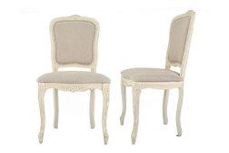 Набор обеденных стульев цвета слоновой кости PROVENCALE PAIR UPH CHAIRS 95*52*56 (Ivory)