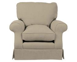 Удобное английское кресло в ткани серо-бежевого цвета PADSTOW CHAIR 89*97*96 (Band D/Dalton Sable)