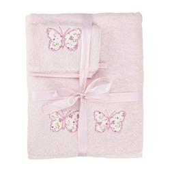 Банный набор полотенец для детей BELLA BATH TOWEL 127*70 & MITT 21*15 SET (Pink)
