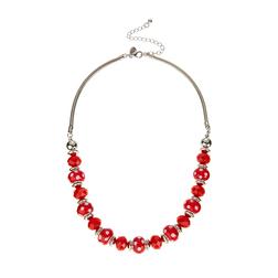 Ожерелье с красными бусинами большого размера JW 392