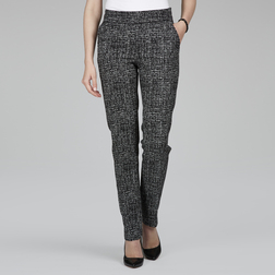 Прямые брюки в черно-кремовой цветовой гамме TR 122