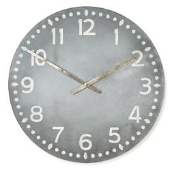 Большие часы серого цвета LOFT WALL Ø76 (Grey)