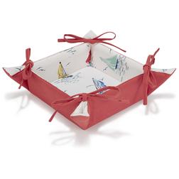 Тканевая корзинка в цветные кораблики AHOY BREAD BASKET 35*35 (Multi)
