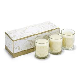 Набор ароматических свечей VOTIVE СANDLES SET OF 3 19*7,5*7,3 (Champagne)