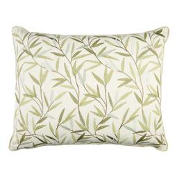 Декоративная подушка с вышивкой листочков ивы WILLOW LEAF 40*50 (Green)