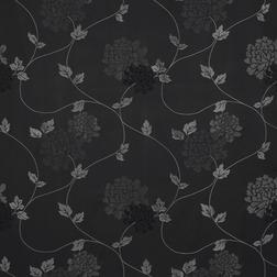 Бумажные обои в цветы хризантемы на черном фоне ISODORE (Charcoal)