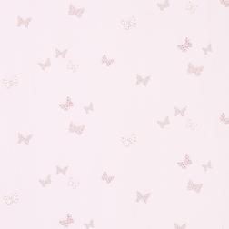 Бумажные обои с рисунком бабочек розового цвета BELLA BUTTERFLY (White)