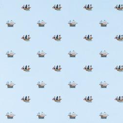 Бумажные обои с пиратскими корабликами PIRATE SHIPS (Blue)