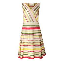 Хлопковое платье без рукава в разноцветные полоски MD 814
