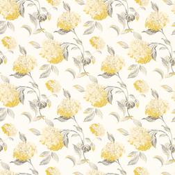 Бумажные обои в желтые цветы гортензии HYDRANGEA (Camomile)