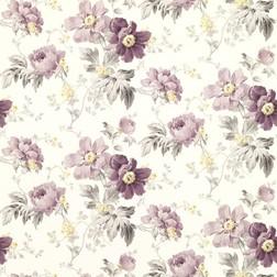 Бумажные обои с роскошным рисунком цветов пиона фиолетового цвета PEONY GARDEN (Amethyst)