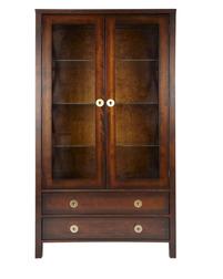 Высокий шкаф с дверками и ящиками BALMORAL DISPLAY CABINET 181*100*40 (Chestnut)