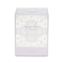 Ароматическая свеча с запахом садовых растений SWEET PEA & FREESIA BOX 10*9*9 (Amethyst)