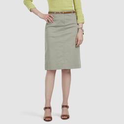 Хлопковая юбка чинос бежевого цвета с поясом MS 431