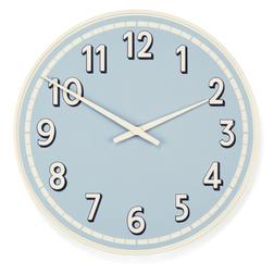 Металлические часы голубого цвета BOATHOUSE WALL Ø33 (Blue)