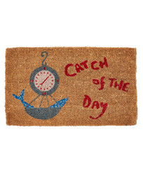 Коврик под дверь с морским рисунком CATCH OF THE DAY DOORMAT 43*73 (Cranberry)