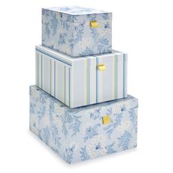 Набор картонных коробок с цветочным рисунком HARBOUR SET OF 3 18*28*34,5 (Multi)