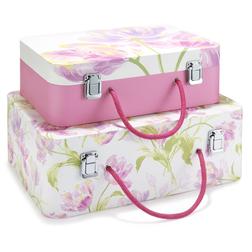 Набор коробок украшенных цветами тюльпана GOSFORD SUITCASES SET OF 2 41*30*15,5 (Multi)