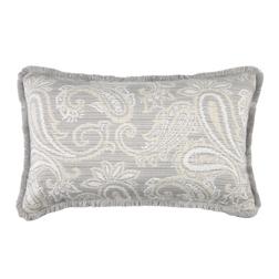 Прямоугольная подушка серого цвета FAULKNER 30*50 (Steel)