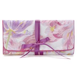 Мягкая косметичка украшена цветами тюльпана GOSFORD JEWELLERY ROLL 19*10 (Multi)