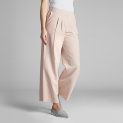 Широкие штаны прямого кроя персикового цвета TR 994
