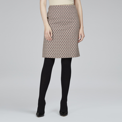 Жаккардовая юбка-карандаш черного цвета с цветочным принтом MS 398