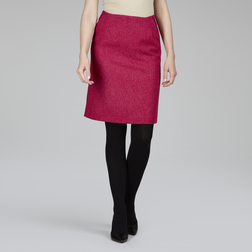 А-образная юбка из шерсти цвета спелой клубники MS 405