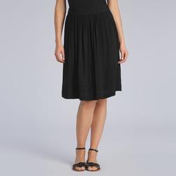 Легкая юбка черного цвета на резинке MS 290