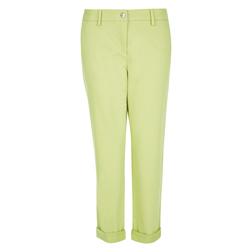 Стрейчевые укороченные брюки светло-зеленого цвета TR 025