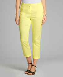 Укороченные брюки чинос ярко-желтого цвета TR 042