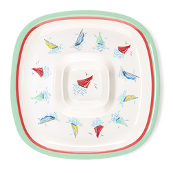 Большая тарелка для пикника AHOY CHIP AND DIPTRAY Ø36 (Multi)