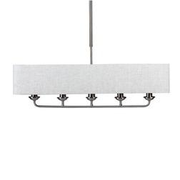 Широкая люстра на 4 лампочки в один ряд SORRENTO 4 LIGHT (Natural/Chrome)