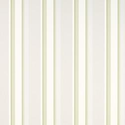Бумажные обои в вертикальную полоску светло-зеленого и бежевого цвета EATON STRIPE (Apple)