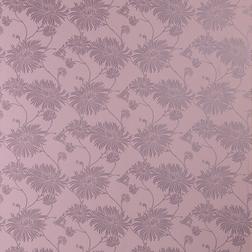 Красивые бумажные обои виногдадного цвета с рисунком хризантем  KIMONO (Grape)