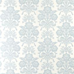 Тонкие бумажные обои с цветочным рисунком голубого цвета TATTON (Seaspray)