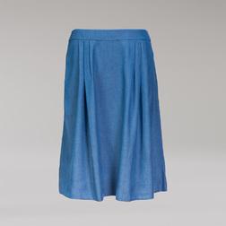 """Стильная """"джинсовая"""" юбка летящего кроя MS 287"""