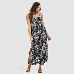 Свободное пляжное платье черного цвета, на завязках SW 234