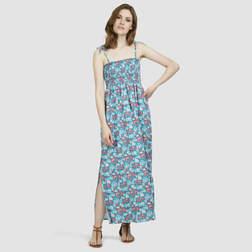 Свободное пляжное платье бирюзового цвета, на завязках SW 238