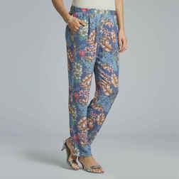 Стильные прямые штаны синего цвета TR 030